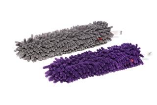 WoollyWormit Brush Cover grau & lila 2er Pack