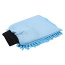 """GD Basic """"Zottel"""" Mikrofaser Waschhandschuh blau"""