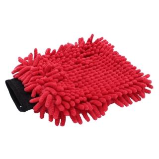 "GD Basic ""Zottel"" Mikrofaser Waschhandschuh rot"