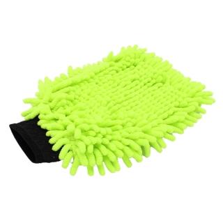 """GD Basic """"Zottel"""" Mikrofaser Waschhandschuh grün"""